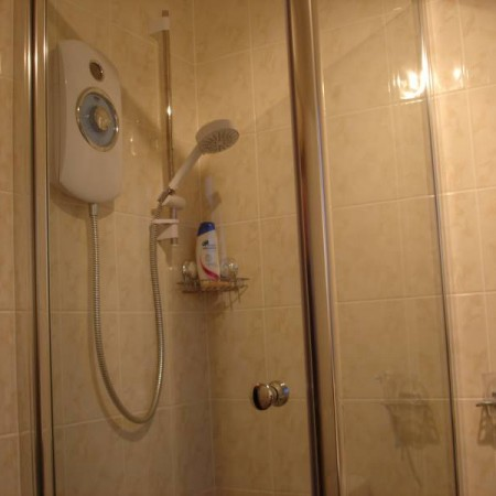 new shower in bathroom